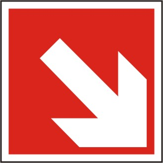 Brandschutzschild Richtungsangabe schräg  BGV A8 / F 02