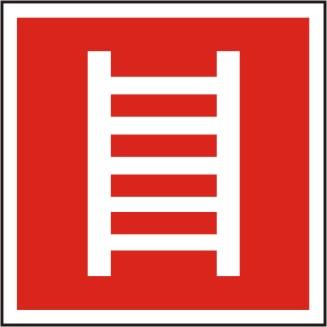 Brandschutzschild Leiter BGV A8 / F 04