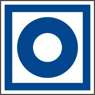 """Brandschutzschild """"Symbol Hausmelder -blau-  ISO 6309 No.1 und BGV A 8 F 08"""