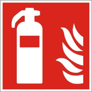 Brandschutzschild Feuerlöscher nach ISO 7010 / F 001