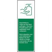 Hände desinfizieren, Folie, 50 x 150 mm, grün/weiß