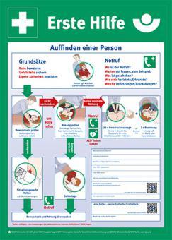 Anleitung zur Ersten Hilfe Kunststoff, Länge: 400 mm, Höhe: 560 mm
