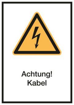 Kombischild ASR A1.3 [W021]/BGV A8 [W21] Achtung! Kabel