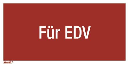 Für EDV Kombizusatzschild für F05 Feuerlöschg