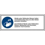 """Kombischild """"Hände waschen"""", Folie"""