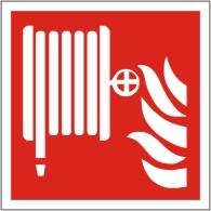 Brandschutzschild Löschschlauch nach ISO 7010 F 002