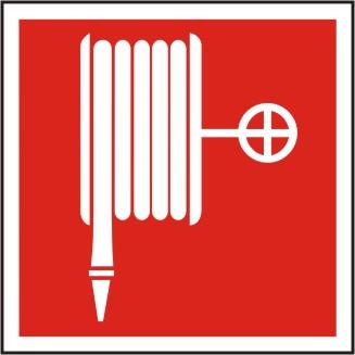 Brandschutzschild Löschschlauch BGV A8/F 03