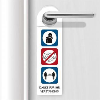 Türhänger mit Hygienehinweisen