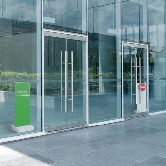 InfoStele - Eingang / Ausgang - 32 x 98 cm
