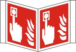 Nasenschild Brandmelder nach ISO 7010 / F 005 200x200x25 | Kunstoff | ja | - | -