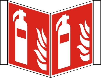 Nasenschild  Feuerlöscher nach ISO 7010 / F 001