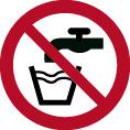 Verbotsschild P005 als Symbol kein Trinkwasser nach ISO 7010
