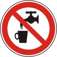 """Verbotsschild als Symbol""""P05.""""  """" Kein Trinkwasser """""""