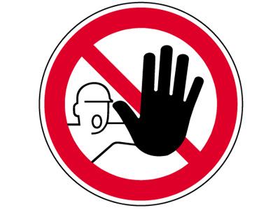 """Verbotsschild als Symbol """"BGV A 8, P06, Zutritt...verboten"""""""