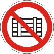 """Verbotszeichen als Symbol """"BGV A 8 P 12, Nichts abstellen oder lagern"""", Größe: 200 mm"""
