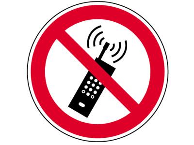 """Verbotsschild als Symbol """"P18 /Handy Verbot"""