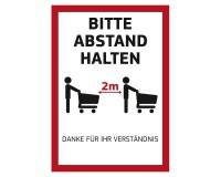 """Poster """"Bitte Abstand halten"""" für Kundenstopper DIN A1 auf Fotopapier 170g"""