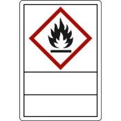 GHS 02 Flamme zur Selbstbeschriftung, Klapplaminat