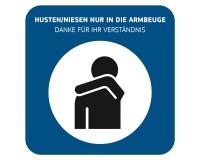 Hinweisschild - Hygiene beim Husten und Niesen - Forex 3mm