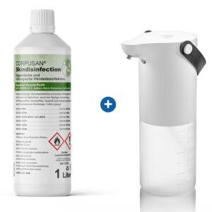 Mobiler Sensor-Spender und 1l Handdesinfektionsschaum
