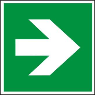 Zusatzzeichen GRÜN als Pfeillsymbol nach DIN EN ISO 3864-3