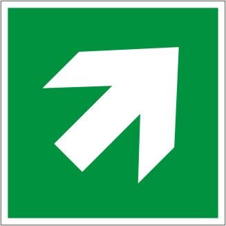 Zusatzzeichen GRÜN als Pfeillsymbol Typ D, aufwärts/abwärts