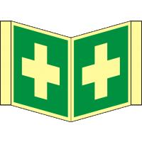 Nasenrettungsschild als Symbol Erste Hilfe nach BGV A 8