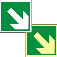 E02 / Rettungszeichen Symbol Richtungsangabe aufwärts/abwärts, BGV A8
