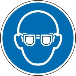 Gebotsschild als Symbol Augenschutz benutzen nach ISO 7010 M004