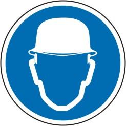 """Schild Symbol """" M02 , Kopfschutz tragen"""""""