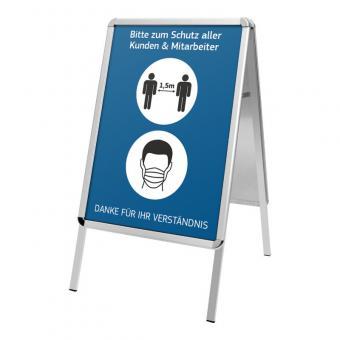 Kundenstopper DIN A1- Hygienehinweisen - Bitte Abstand halten und Maske tragen