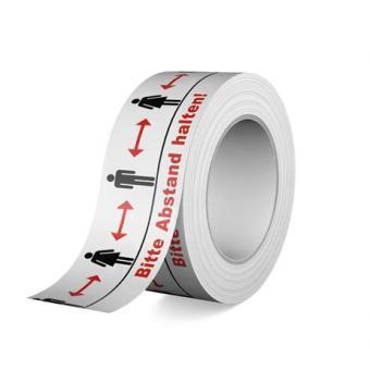 Bitte Abstand halten - Warnband / Klebeband