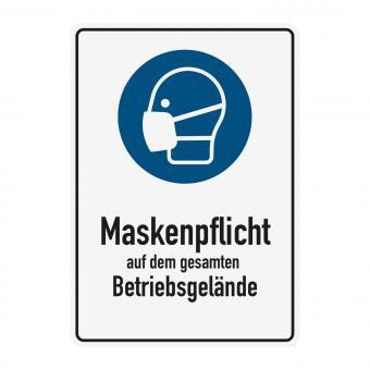 Hinweisschild - Maskenpflicht - Betriebsgelände