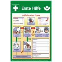 """Schild """"Anleitung zur Ersten Hilfe"""",Kunststoff, Größe 400 x 562 mm"""