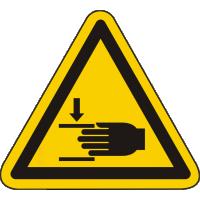 W27 / Warnschild als Symbol Warnung vor Handverletzungen nach BGV A 8