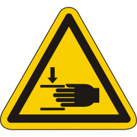 W024 / Warnschild als Symbol Warnung vor Handverletzungen ISO 7010