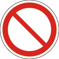 Verbotszeichen P011