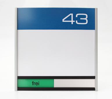 Türschild System PR-150F, mit frei / belegt-Anzeige