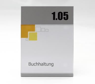 Türschild System PR-150S mit Kopfpaneel, 110x150mm