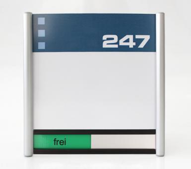 Türschild System PR-150, mit frei / belegt-Anzeige