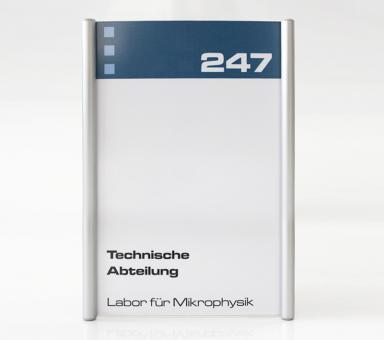 Türschild System PR-150, Höhe 210mm