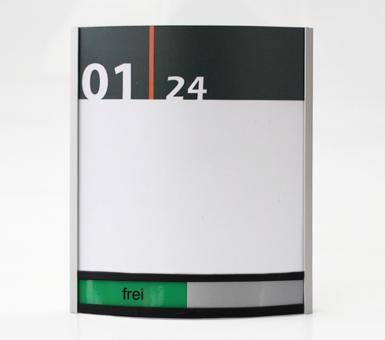 Türschild System PR-3002, 120x175mm, mit frei / belegt-Anzeige