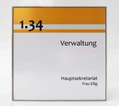 Türschild System PR-CLEANline, 165x165mm, grau