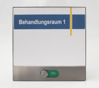 Türschild System PR-EST, 150x150mm, mit frei / belegt-Anzeige