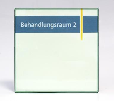 Türschild System PR-EST, 150x150mm, Acryl Glaslook