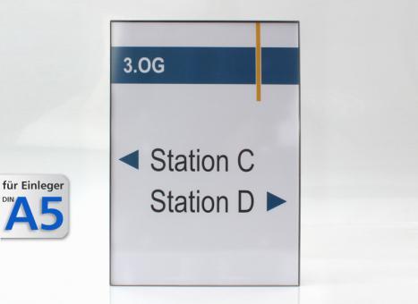 Wandschild System EST, A5-Hochformat