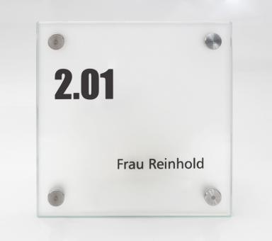 Türschild System PR-GLASline
