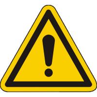 W001 / Warnschild als Symbol Warnung vor einer Gafahrenstelle nach ISO 7010