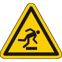 W007 / Warnschild als Symbol Warnung vor Stolpergefahr nach ISO 7010