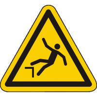 W008 / Warnschild als Symbol Warnung vor Absturzgefahr nach ISO 7010